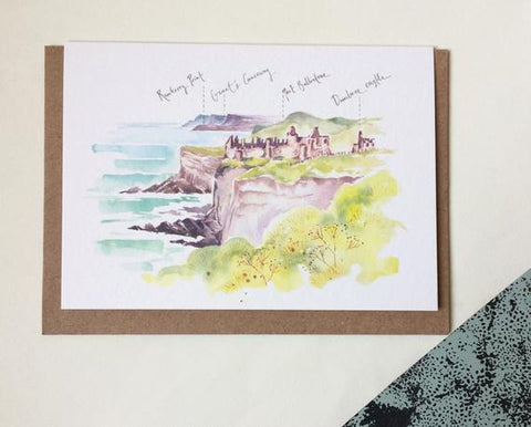 PC Dunluce Castle Causeway Coast Blank Card