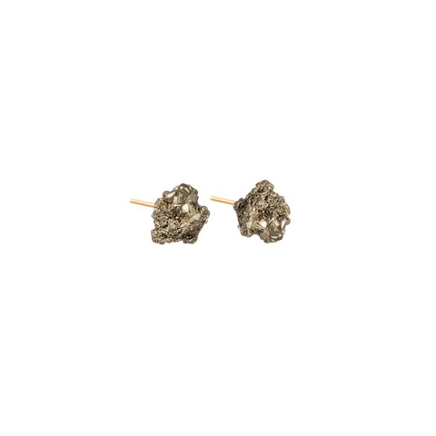 Decadorn Earrings-Pyrite Studs