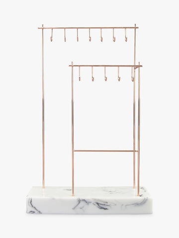 Stackers Large Rose Gold 12 Hook Jewellery Stand