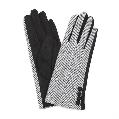 PM Herringbone Gloves - Black/Grey