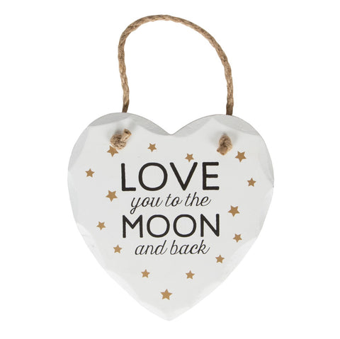S&B Love You to the Moon and Back Plaque