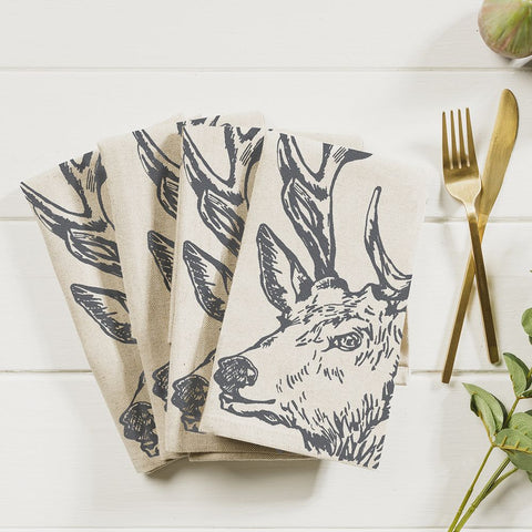 JS Linen Napkins Set of 4 - Stag