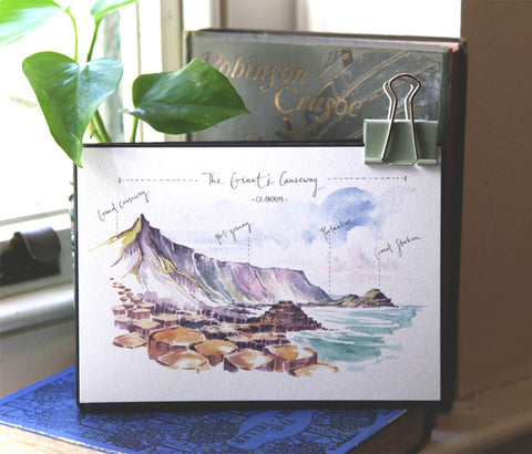 PC MOUNTED The Giant's Causeway: West Facing Art Print