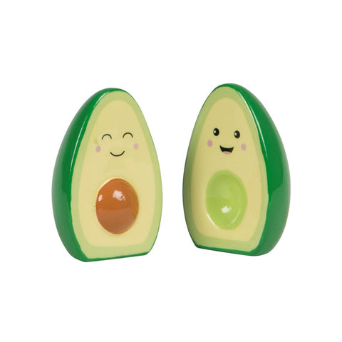 S&B Salt And Pepper Shakers Avocado Happy Green