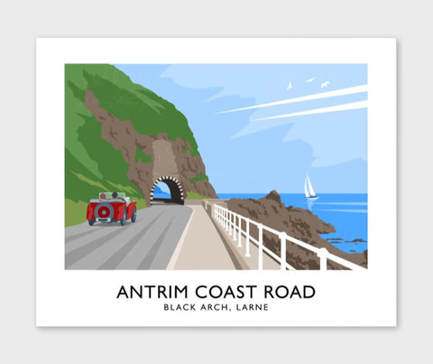James Kelly Print-Antrim Coast Road Black Arch