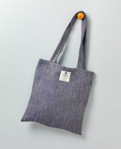 McNutt Irish Linen Tote Bag-Denim
