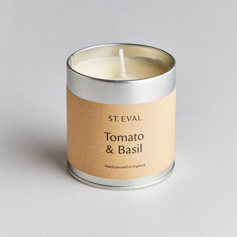 St Eval Scented Tin Candle-Tomato & Basil