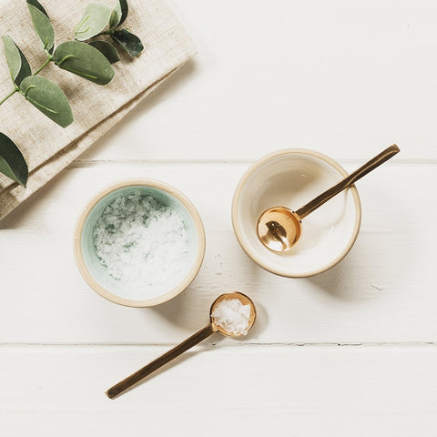 JS Stoneware & Copper Spoon Condiment Set
