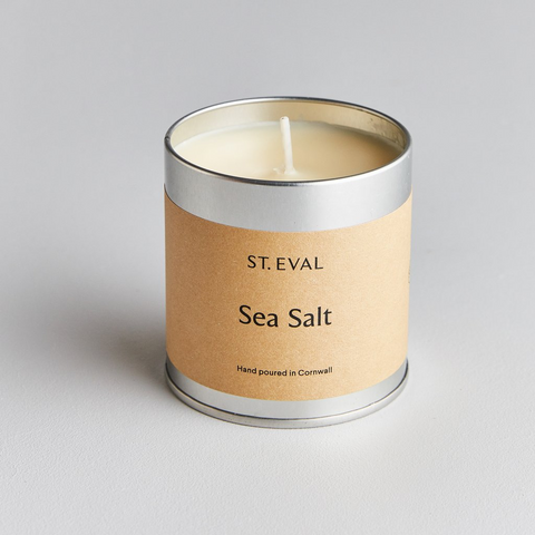 St Eval Scented Tin Candle-Sea Salt