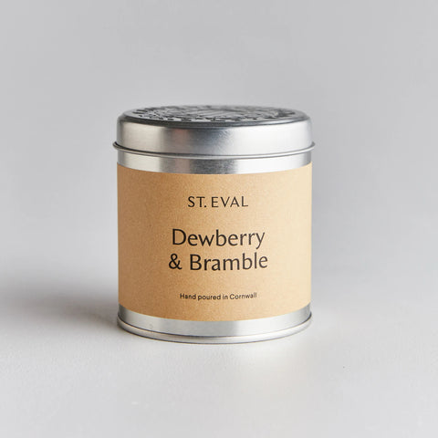 St Eval Scented Tin Candle-Dewberry & Bramble
