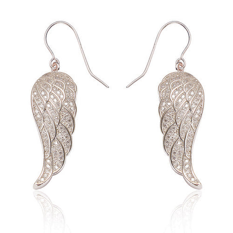 SPK Angel Wing Earrings-Silver