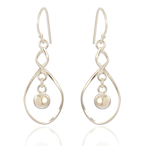 SPK Gia Ball Drop Earrings(Silver)