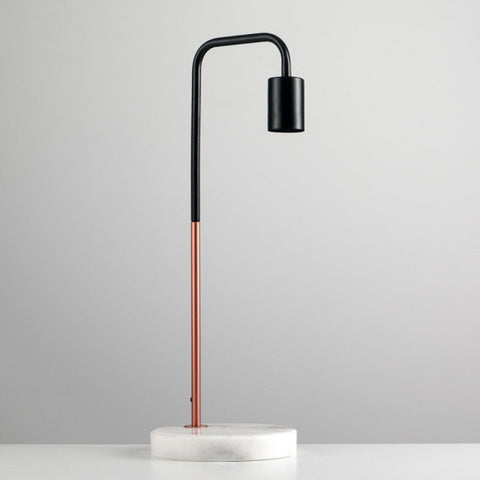 STP Table Lamp Marble Base Blk/Copper