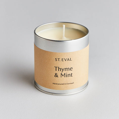 St Eval Scented Tin Candle-Thyme & Mint