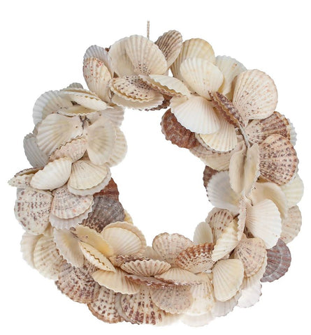 GG Natural Scallop Shell Wreath