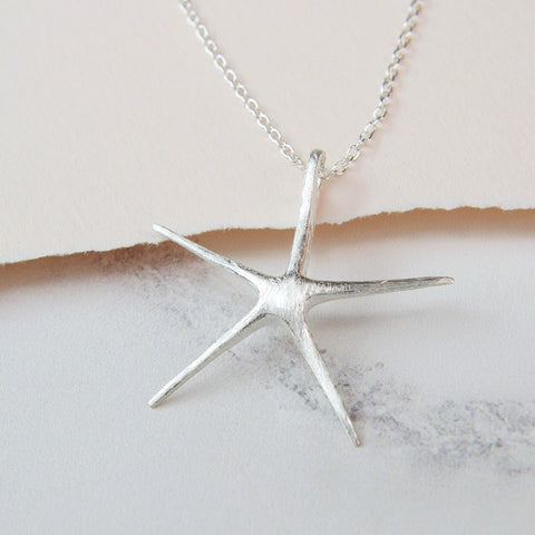 PM Sterling Silver XL Starfish Necklace