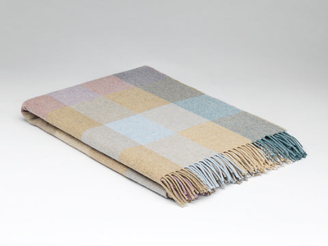 McNutt Lambswool Throw - Coastal Check