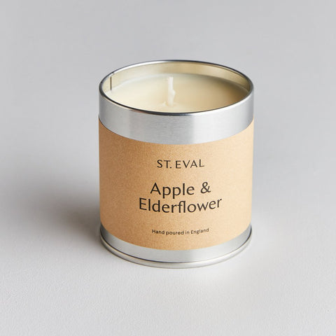 St Eval Scented Tin Candle-Apple & Elderflower