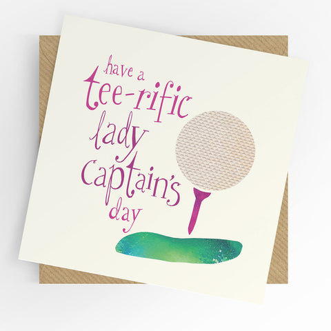 UTWT Have A Tee-rific Lady Captain's Day Card