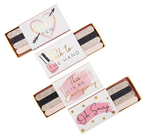 CB Blush 4 Assorted Matchbox Nail Files
