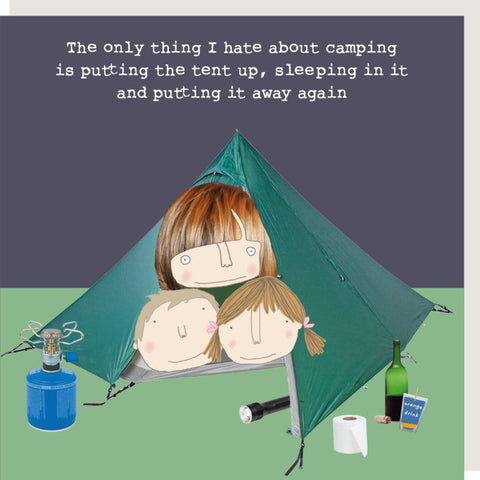 RMT I Hate About Camping Card