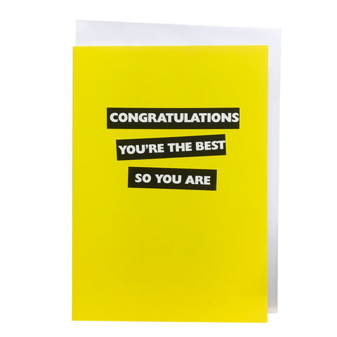 Belfast Times Congratulations You're the Best Card