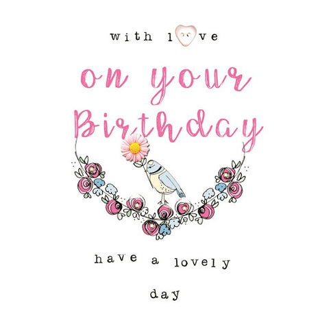 Laura Sherratt On Your Birthday Bird Card