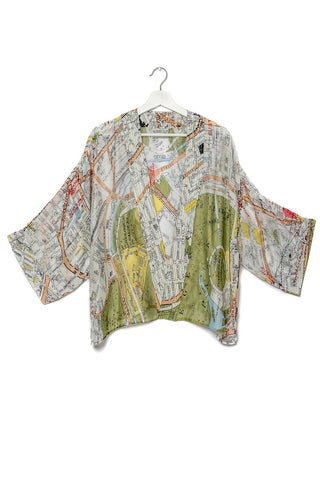 One Hundred Stars Maps Kimono-London Streets