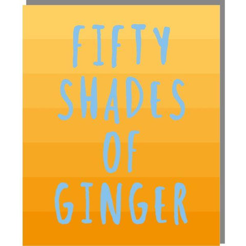 RMT Fifty Shade Of Ginger Mini Card