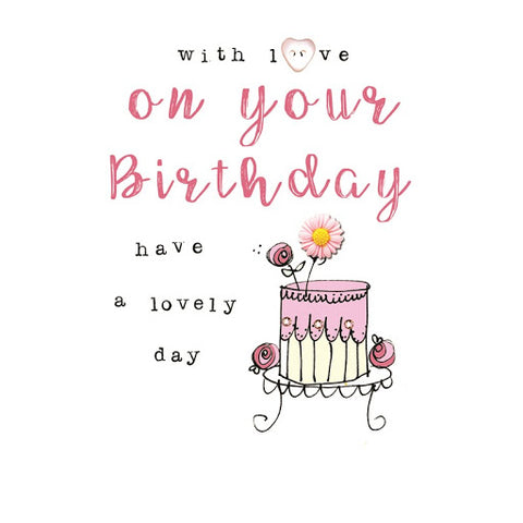 Laura Sherratt On Your Birthday Cake Card