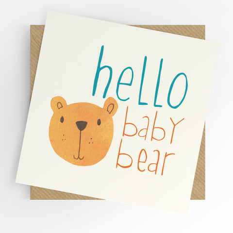 UTWT Hello Baby Bear Card