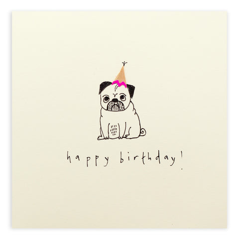Ruth Jackson Happy Birthday Pug Card