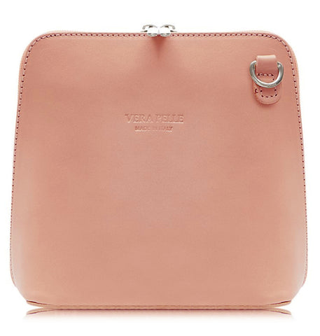Vera Pelle Crossbody Bag-Smoke Rose