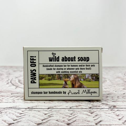 Wild About Soap Shampoo Bar- Paws Off 95g