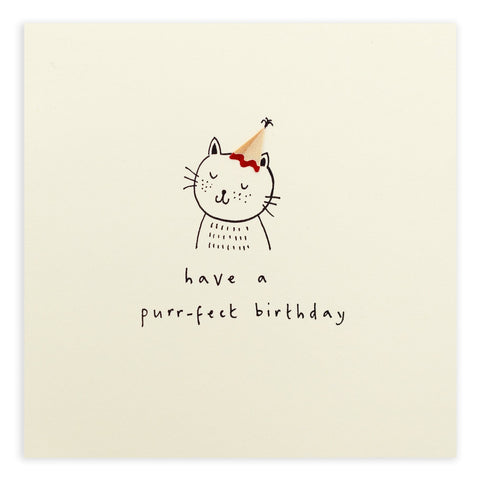 Ruth Jackson Have A Purr-fect Birthday Card