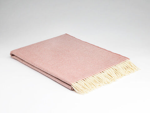 McNutt Lambswool Throw - Supersoft Rosebay