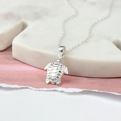 PM Sterling Silver Turtle Necklace