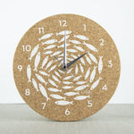 Liga Cork Wall Clock-Swallows