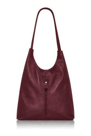 Italian Leather Bag Medium- Burgandy