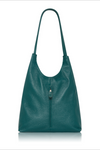 Italian Leather Bag Medium- Dark Teal