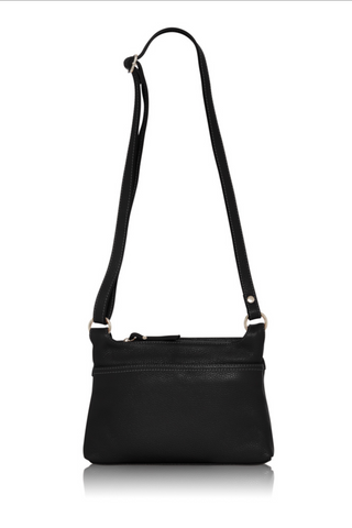 Italian Leather Handbag-Black