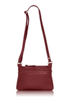 Italian Leather Handbag-Dark Red