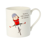 MCL Rosie Made A Thing Mug-Lycra Be Fabulous Bicycle Girl