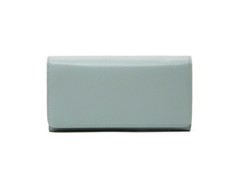Italian Leather Purse-Pale Blue