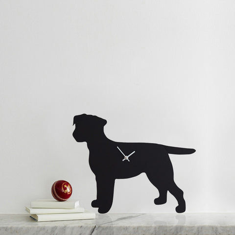 LC Border Terrier Clock Black