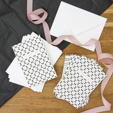 CG Notecard Pack - Geometric Pattern Thank You