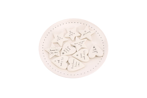 CB Ceramic Pocket Heart/Star