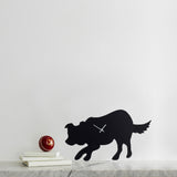 LC Border Collie Clock-Black