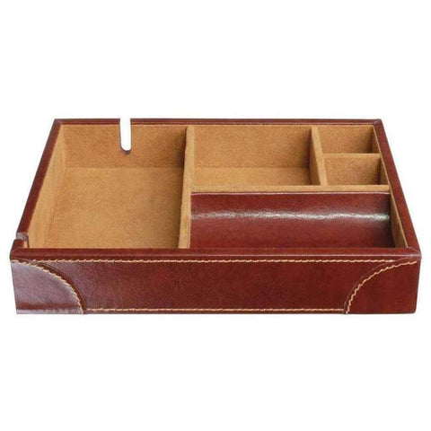 Stackers Mens Leather Valet-Chestnut Brn
