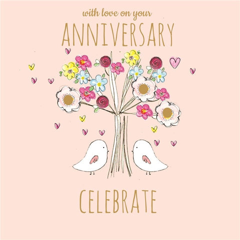Laura Sherratt With Love On Your Anniversary Card